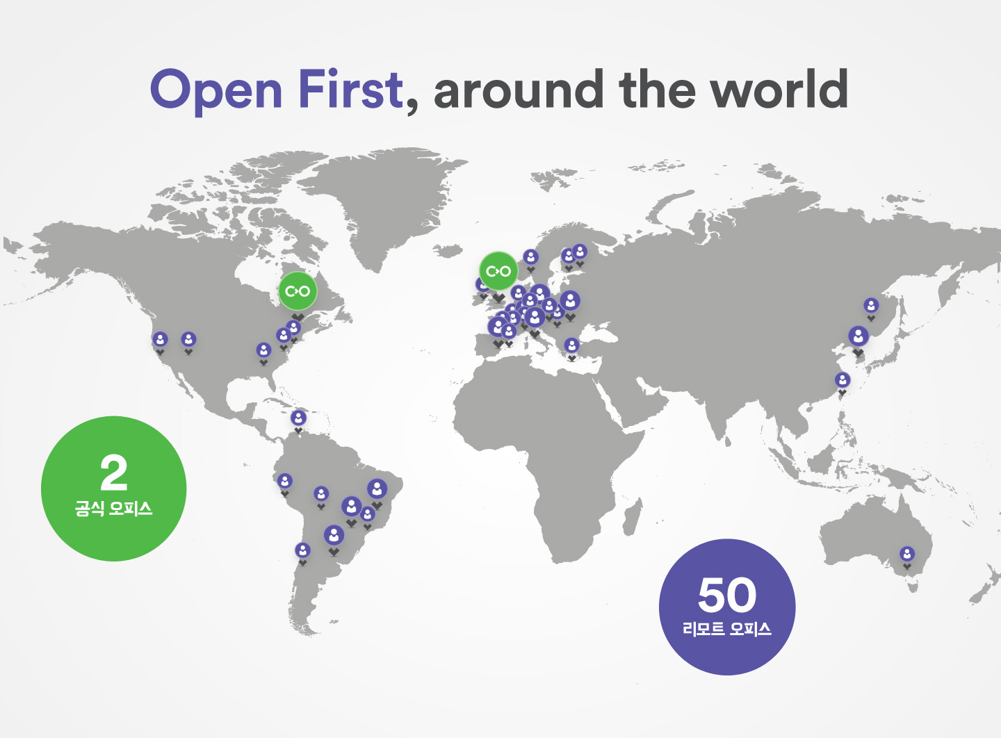 Open First, around the world